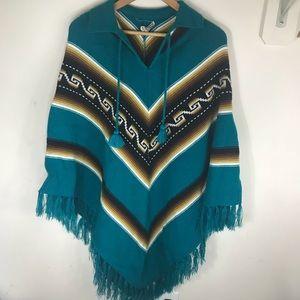 Sweaters - Poncho / Serape One Size Made in Ecuador